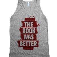 Athletic Grey Tank | Fun Bookworm Literature Shirts
