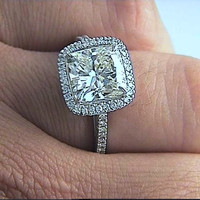 4.73ct Cushion Diamond Engagement ring EGL certified Anniversary Bridal Gift JEWELFORME BLUE