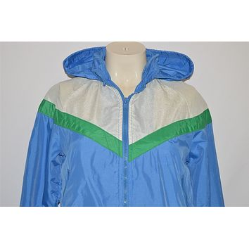 80s Nike Hooded Windbreaker Jacket Women's Extra Small
