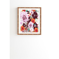 Aimee St Hill Croc And Flowers Orange Framed Wall Art