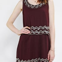 Staring At Stars Embellished Double-Layer Tank Dress - Urban Outfitters