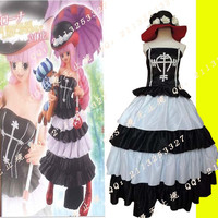 2015 halloween costumes for women hot anime costume One Piece Ghost Princess dress Perona cosplay costume dress with hat