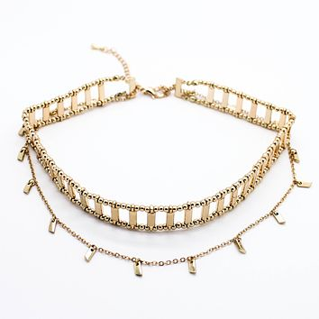 Bella layer choker necklace (2 colors)