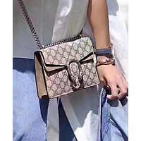 Gucci Classic Hot Sale Women Shopping Bag Leather Metal Chain Crossbody Satchel Shoulder Bag