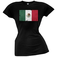 World Cup Mexico Distressed Flag Juniors T-Shirt