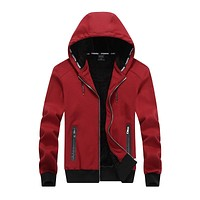 New Autumn Winter Men Sporting Hooded Jacket Thickening Cashmere Hoodies Sweatshirts For Men Tracksuit Clothing