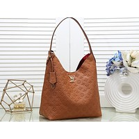 LV sells lady's one-shoulder bag and multi-color shopping bag Brown