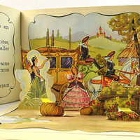 Cendrillon, French Cinderella, Lucos, Mullhouse, Pop - Up Book, 1950s
