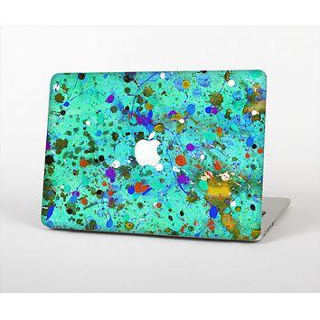 """The Trendy Green with Splattered Paint Droplets Skin Set for the Apple MacBook Air 13"""""""