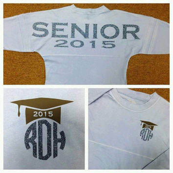 YOU PICK your Colors -Senior Class of 2015 Class of 2016 Monogrammed Spirit Jersey