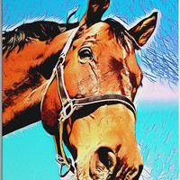 Custom Horse Portrait - Bespoke Horse Painting - Ready to Hang - Perfect gift for horse lovers!