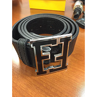 Fendi Belt Black/Silver Made In Italy (Size 34-40)