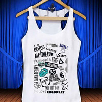 Music and artists #thetengtop for Tank Top Mens and Tank Top Girls custom