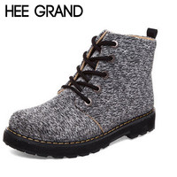 Lace-up Fashion Autumn Shoes Women Ankle Boots England Style Canvas Motorcycle Boots XWX3703