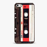 Red Viuntage Tape iPhone SE Case