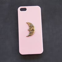 Pink Galaxy S3 iPhone 5 Case Pink Cell Phone Case Moon Moon iPhone 6 Moon iPhone 4s iPhone 5c Moon Galaxy S3 Moon Case Pink iPhone 6 Plus