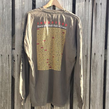 Vtg ROCK and ROLL Hall of Fame Inductee Tee Shirt - Cleveland - Size L
