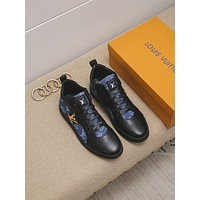 lv louis vuitton men fashion boots fashionable casual leather breathable sneakers running shoes 867