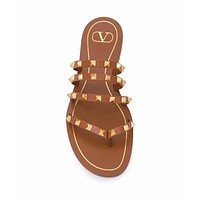 Valentino Summer Classic Fashion Men Women Slipper Sandals Shoes