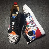 Christian Louboutin CL Style #2172 Sneakers Fashion Shoes Best Deal Online