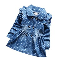 spring autumn children girls denim jacket baby girls cotton outerwear coat kids girls clothing toddler girl top clothes