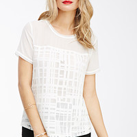 Abstract Grid-Patterned Top