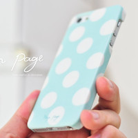 Apple iphone case for iphone iphone 3Gs iphone 4 iphone 4s iPhone 5 : soft blue abstract dots