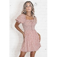 Wild About You Rust Mini Dress
