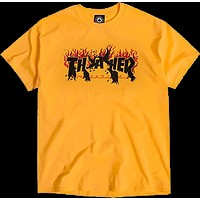 Thrasher Crows Tee XL gold