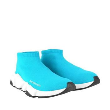 Balenciaga Speed Sock Women's Trainers Blue / White