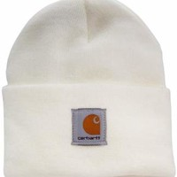 Carhartt Women's Knit Beanie Hat,Winter White,OFA