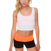 Wake Me Up Yoga Shorts - Orange