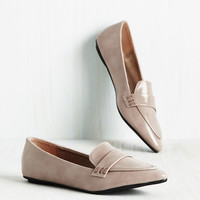 Again and Agenda Loafer in Stone | Mod Retro Vintage Flats | ModCloth.com