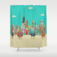 Chicago city (summer days) Shower Curtain by bri.buckley