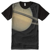 Planet Saturn Solar System All-Over Print T-shirt