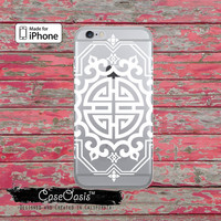 Asian Style White Line Art Pattern Cute Clear Phone Case For iPhone 6, iPhone 6 Plus +, iPhone 6s, iPhone 6s Plus +, iPhone 5/5s, iPhone 5c