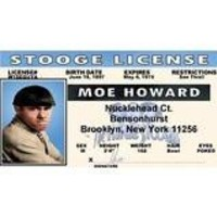 Three Stooges Moe - Collector Card