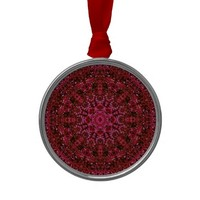 Ruby Red Metallic Christmas Tree Ornaments