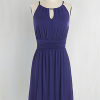 Mid-length Sleeveless A-line Afternoon Outing Dress