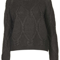 Cable Knit Jumper by Boutique - Knitwear - Clothing - Topshop USA