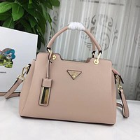 prada women leather shoulder bags satchel tote bag handbag shopping leather tote crossbody 262