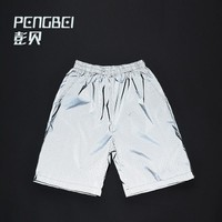 Summer hip hop 3m reflective shorts breathable mesh Casual male  biker short pants  customized printing
