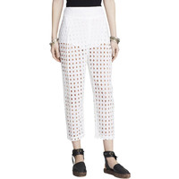 Free People Womens Eyelet Partially Lined Casual Pants