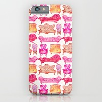 Victorian Lounge – Pink Palette iPhone & iPod Case by Cat Coquillette
