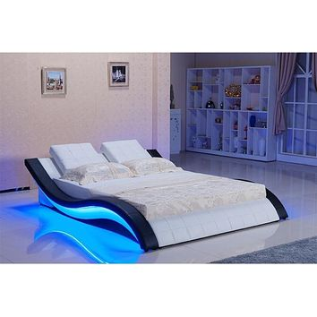 Modern Led Bed With Sound System For Bedroom