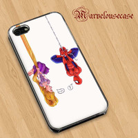 disney tangled and spiderman funny Art custom case for all phone case