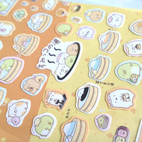 Relaxation time Hot springs party cartoon sticker japanese bathhouse enjoy bathing spa massage fat animal seal label funny cartoon sticker