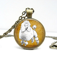 White Poodle Necklace