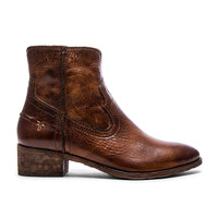 Frye Ray Seam Short Bootie in Cognac