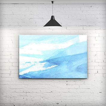 Abstract Blue Strokes - Fine-Art Wall Canvas Prints